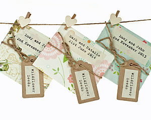 Full Colour Seed Packet Wedding Favour - wedding favours