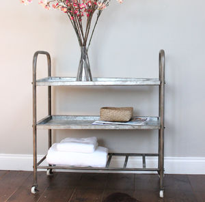 Metal Storage Trolley - shelves