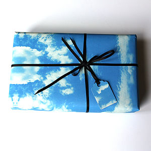 Cloud Rococo Wrapping Paper - ribbon & wrap