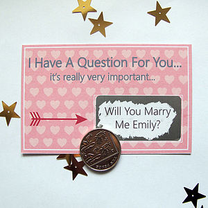 I Have A Question Personalised Scratchcard - cards & wrap sale