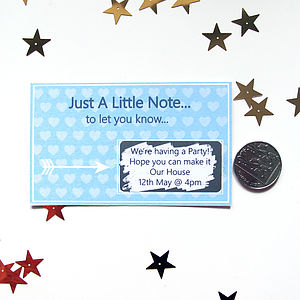 Just A Little Note… Personalised Scratchcard - shop by category