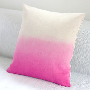 Hand Dyed Cushion Cover - pastel bedroom