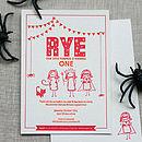 Halloween Letterpress Birthday Invitation
