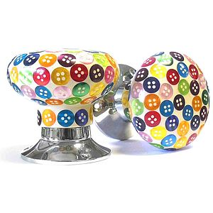 Colourful Button Internal Turning Mortice Door Knobs - children's decorative accessories