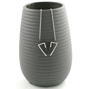 Handmade Silver Deco Triangle Necklace