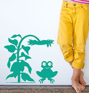 Children's Friendly Frog Wall Sticker - shop by price