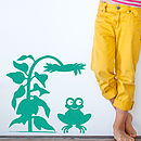 Children's Friendly Frog Wall Sticker