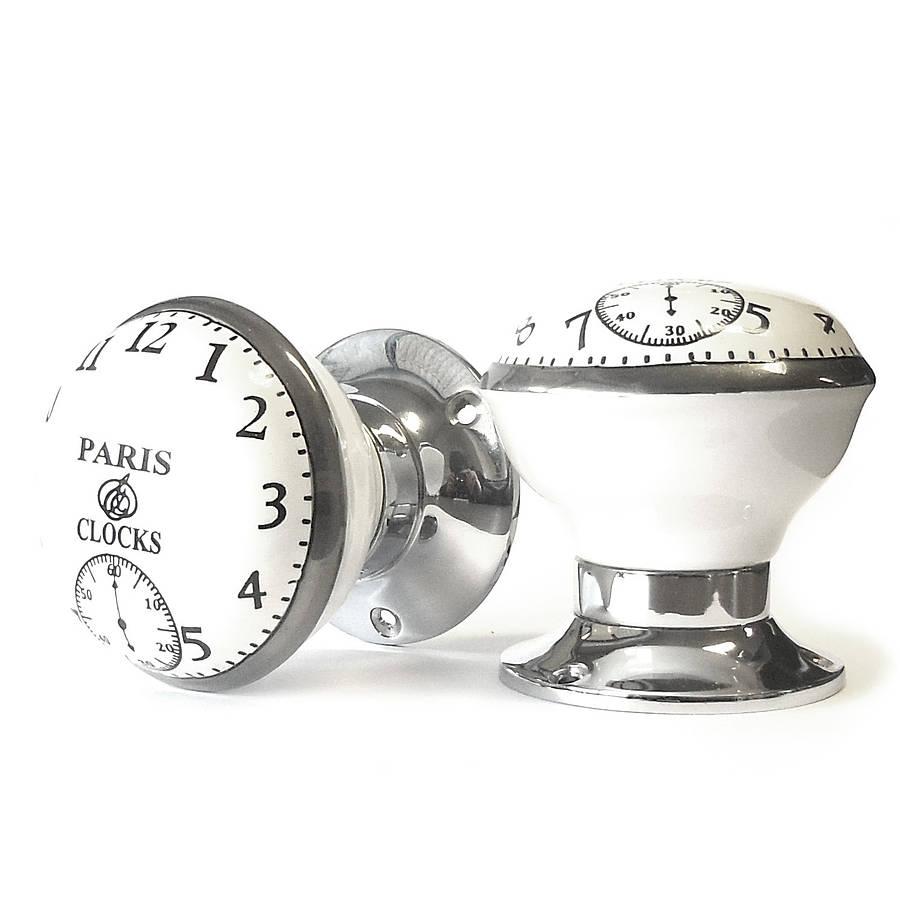 vintage interior turning paris clock mortice door knobs by pushka ...