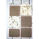 Vintage Inspired Floral Pocket Fold Invite