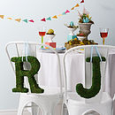 Real Moss Decorative Alphabet Letters