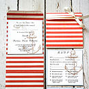 Nautical Stripe Pocket Fold Wedding Invite