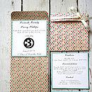 Spotty Pocket Fold Wedding Invite