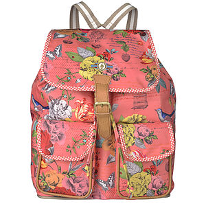 Coral Talking Flowers Backpack - women's sale