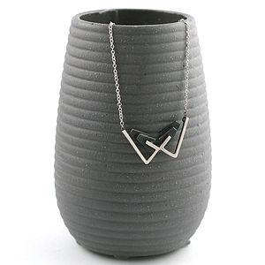 Handmade Silver Deco Bow Necklace