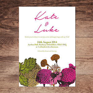 Secret Garden Wedding Invitations - invitations