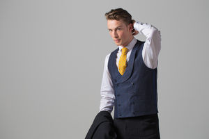 Linen Double Breasted Waistcoat - groomed to perfection