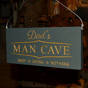 Engraved Wooden Sign For Dad Or Daddy - gifts for the garden