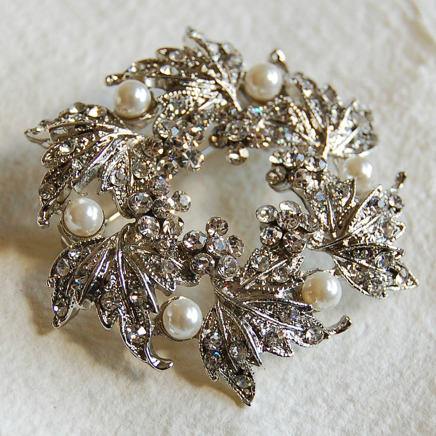 e7565e32c7c silver wreath brooch by highland angel | notonthehighstreet.com