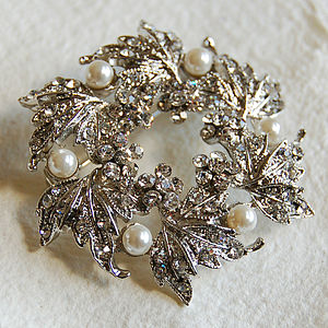 Silver Wreath Brooch - pins & brooches
