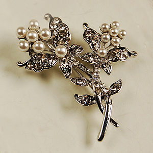 Entwined Flower Brooch - pins & brooches