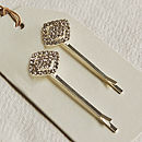 Set Of Two Diamante Hair Slides