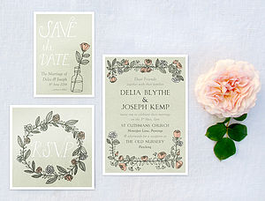 X 30 Rose Wreath Save The Dates