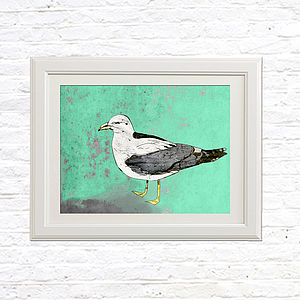 Condescending Seagull Limited Edition Signed Print - pictures & prints for children
