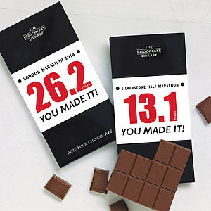 Congratulations Running Gift Chocolate