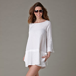 Washed Irish Linen Tunic - luxury fashion