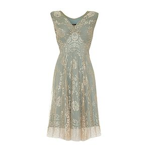 Special Occasion Lace Dress In Platinum - evening dresses