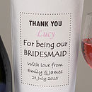 Personalised 'Bridesmaid' Bottle Bag