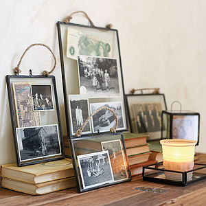 Glass Hanging Frame - picture frames