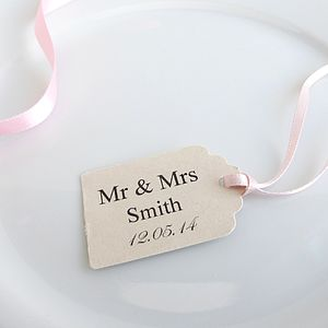 Personalised Mr And Mrs Favour Tags - wedding favours
