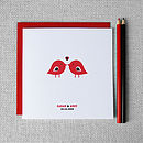 Personalised 'Love Birds' Couples Card