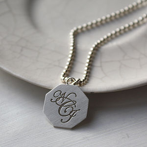 Silver Monogram Necklace - necklaces & pendants
