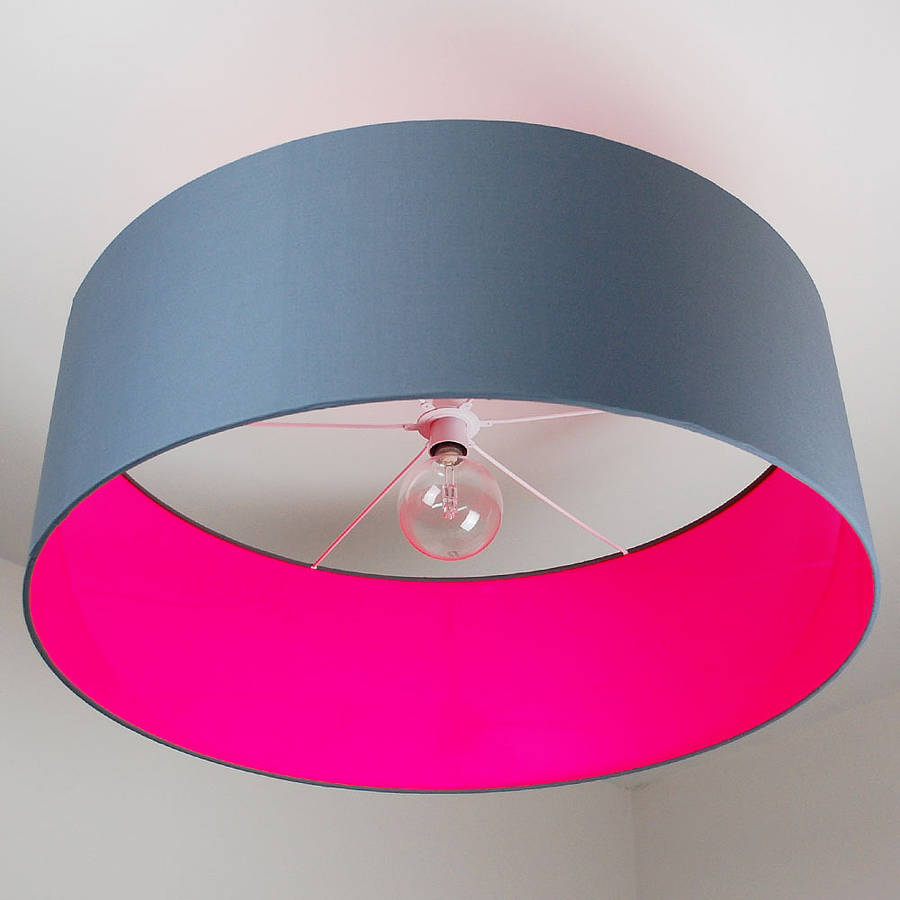 Ceiling Shade: Oversize Neon Ceiling Pendant Shade 40 Colours By Quirk