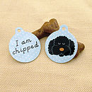 Labradoodle 'I am Chipped' Pet tag