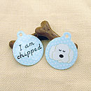 Micro-chipped pet ID tag