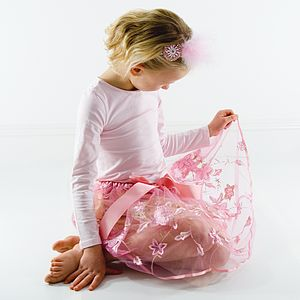 Pink Embroidered Tutu