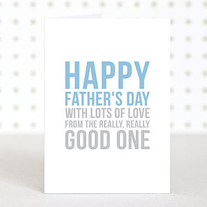 'Happy Father's Day' Card - view all father's day gifts