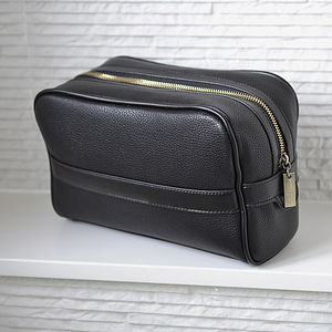 Personalised Men's Washbag - wash & toiletry bags