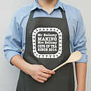 Personalised Love Heart Apron