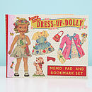 Dress Up Dolly Paper Notes Set