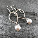 Pearl Petal Drop Earrings