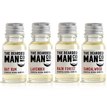Set Of Four Beard Oils
