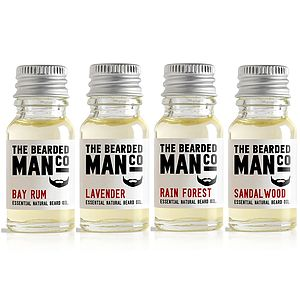 Set Of Four Beard Oils - gifts under £25 for him