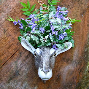 Ceramic Goat Wall Vase - home accessories