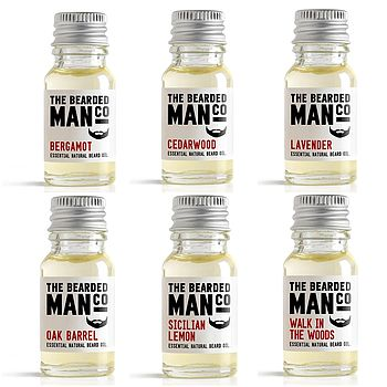 Set Of Six Beard Oils