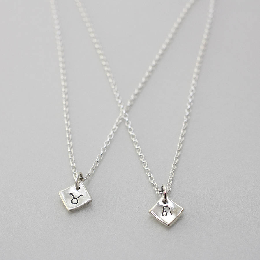handmade silver star sign necklace by notes jewellery ...