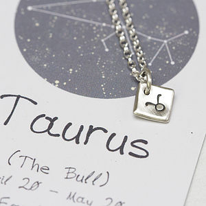 Handmade Silver Star Sign Necklace - horoscopes